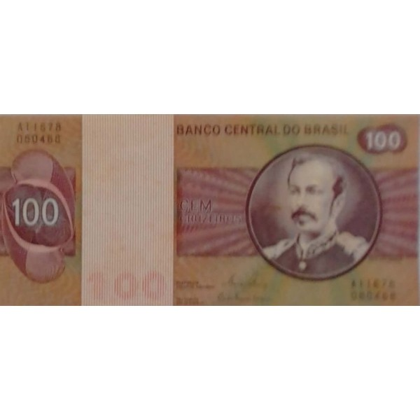 100 CRUZEIROS  ANO 1981 ANVERSO FLORIANO PEIXOTO