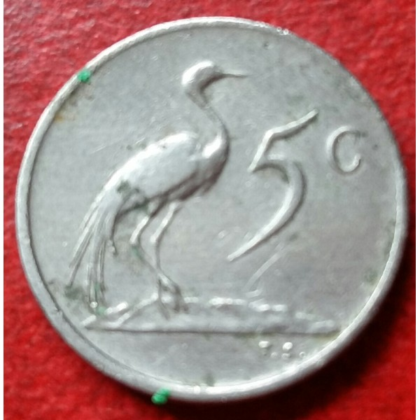 AFRICA DO SUL 00,5 CENTS ANO 1974