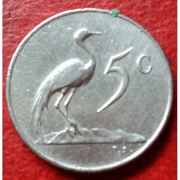 AFRICA DO SUL 005 CENTS ANO 1965
