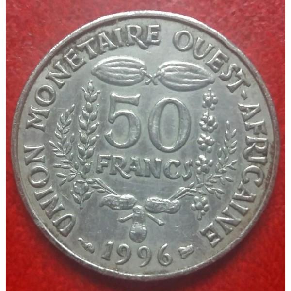 AFRICA OCIDENTAL 50 FRANCOS ANO 1996