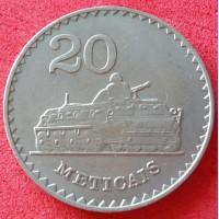 MOÇAMBIQUE REPÚBLICA POPULAR  20 METICAIS ANO 1980