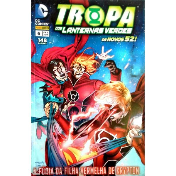 DC. COMICS TROPA DOS  LANTERNAS  VERDES NÚMERO 6