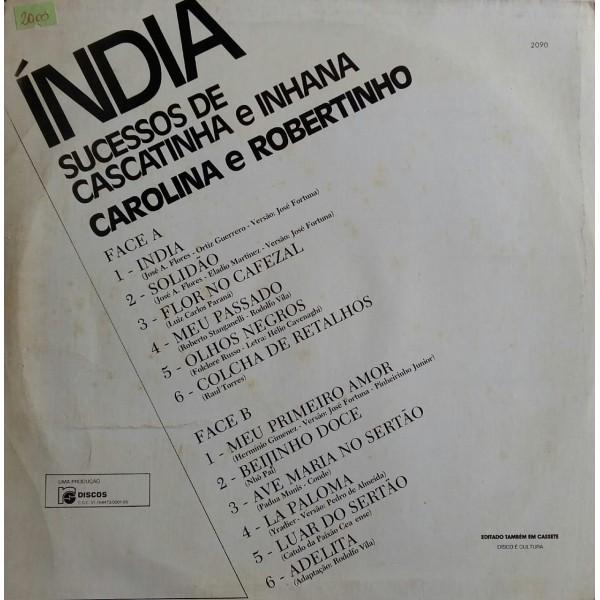 ÍNDIA SUCESSOS DE CASCATINHA E INHANA CAROLINA E ROBERTINHO