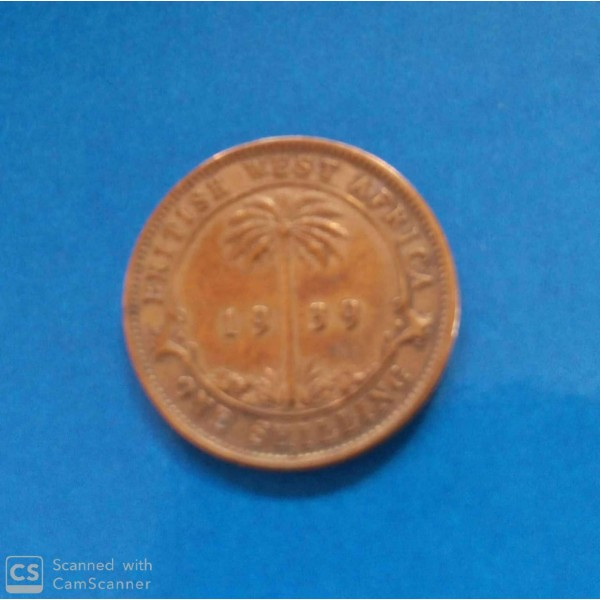 AFRICA  ORIENTAL 1 SHILLING ANO 1939