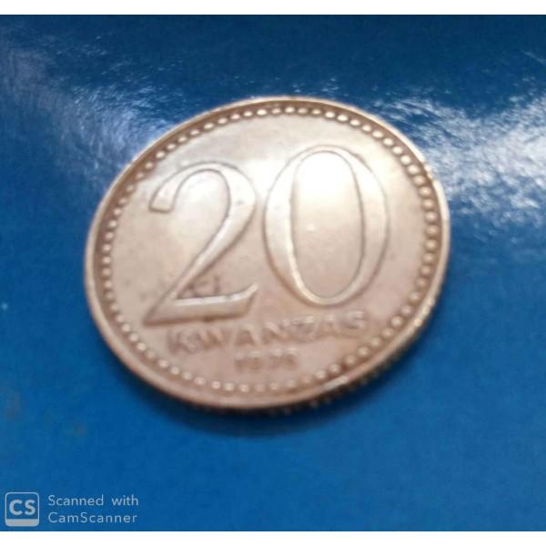 20 KWANZAS DENÍQUEL ANO 1978 ANGOLA