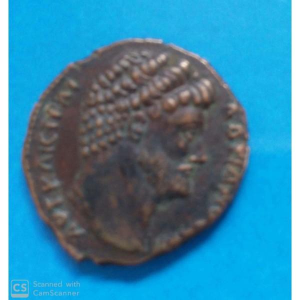 MOEDA DO IMPÉRIO ROMANO ANO 117 A 138 IMPERADOR A...