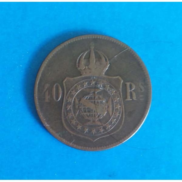 BRASIL IMPÉRIO 40 RÉIS DE BRONZE ANO 1880