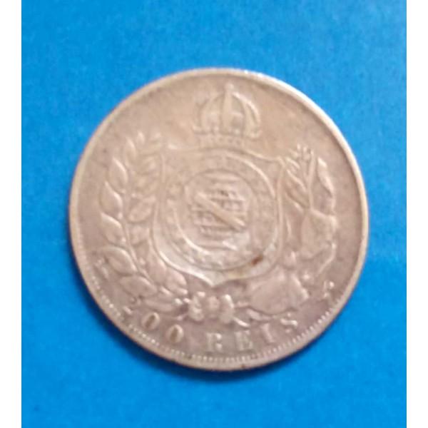 BRASIL 200 RÉIS DE PRATA ANO 1868