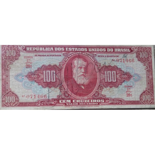 100 CRUZEIROS SEGUNDA ESTAMPA AUTOGRAFADAS 1949